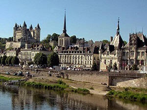 Saumur on the  banks of the river Loire