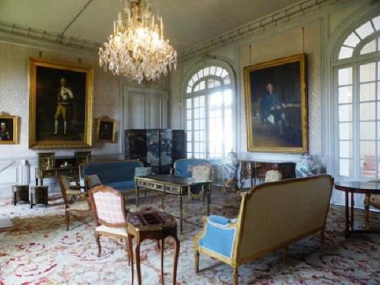 drawing room at Chateau de Valencay France
