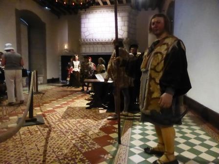 Waxwork models at Chateau de Langeais in the Loire Valley