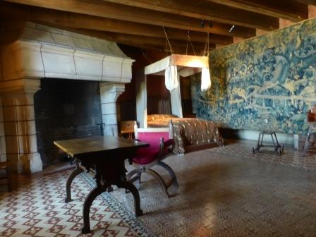 one of the bedrooms at Chateau de Langeais in the Loire Valley
