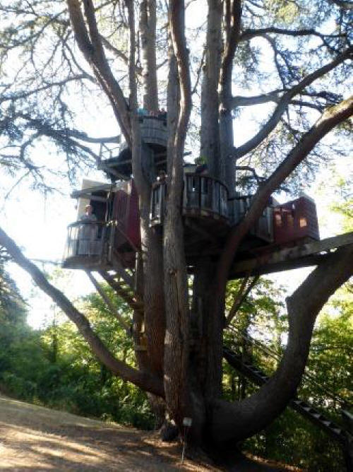 treehouse in the park at Chateau de Langeais in the Loire Valley