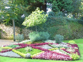 gardens at  Descartes in Indre et Loire, France