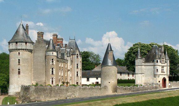 Chateau d Montpoupon in the Loire Valley in France