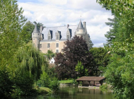 Chateau Montresor looking over the Indrois river
