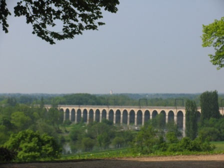 view of viaduct from Chateau Cande