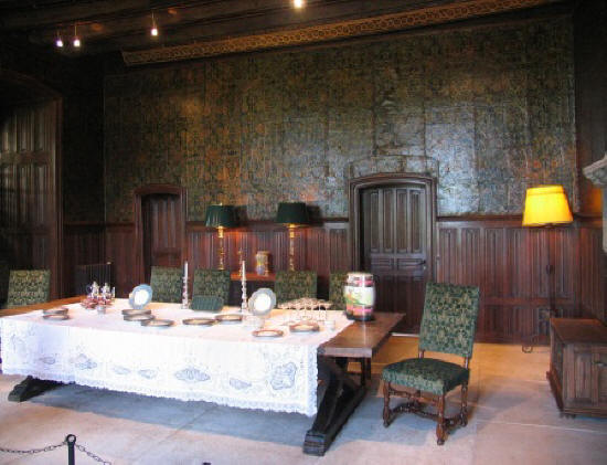 dining room of chateau Cande in the Loire Valley in France