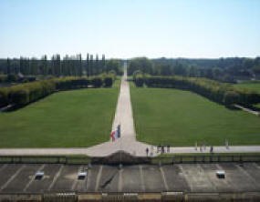 View from the front balcony at Chateau de Chambord