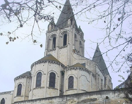 St.Oars church in Loches rear view