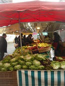 vegetables at Loche market