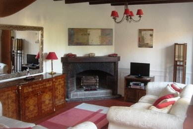 Salon of Loire Valley house to rent
